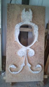 deur met snijwerk